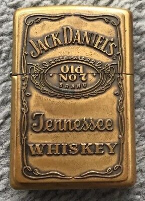 Old Jack Daniels Tennessee Whiskey Zippo Lighter Bradford Pa Made In Usa