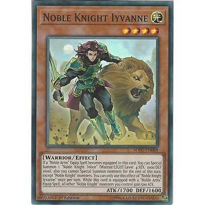 Yu-Gi-Oh! TCG: Noble Knight Iyvanne - SOFU-EN088 - Super Rare Card - 1st Edition