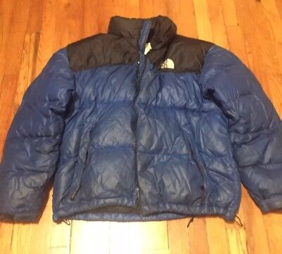 The North Face Nuptse 700 Goose Down Puffer Puffy Jacket Coat blue XL  Vintage ae9d04802