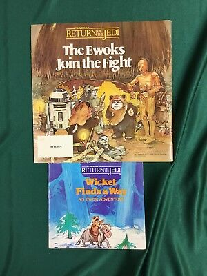 2 Vintage Books WICKET FINDS A WAY, THE EWOKS JOIN THE FIGHT Star Wars