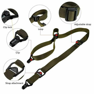 Tactical Military 1 / 2 Point Multi Mission Quick Release Rifle Weapon Sling