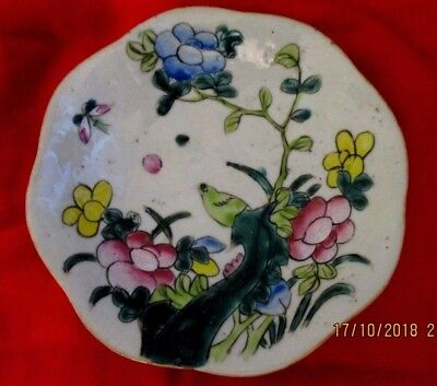 COUPELLE EN PORCELAINE DE CHINE XIXème DIAMETRE 15,5cm