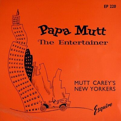 """7"""" PAPA MUTT CAREY'S NEW YORKERS The Entertainer ESQUIRE Jazz Ragtime EP UK 1947"""