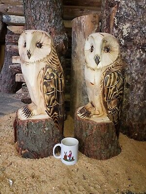 Chainsaw carved / carving Owl **LARGE**