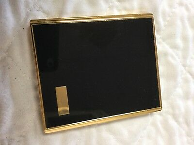 Classic Vintage Art Deco Gold Hinged Cigarette Case Made In Japan By Pearl