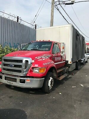 2006 ford f650  tow truck rollback wrecker enclosed flatbed