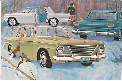 1964 Studebaker Lark Challenger & Commander Large Color Postcard Original