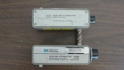 Hewlett Packard 355C and 355D VHF Attenuators (REDUCED PRICE)