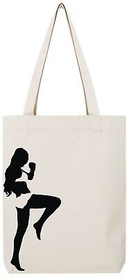 MMA woman girl fighter kick boxer muay thai ju jitsu karate Tote Bag T161