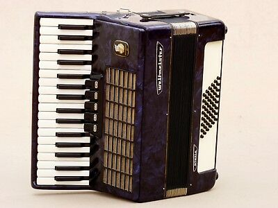 Very Nice German Accordion Weltmeister Stella 48 bass Including Case