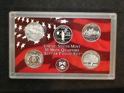 1999 SILVER Washington Quarter FIVE GEM COIN PROOF SET 25C Coins IN MINT HOLDER!
