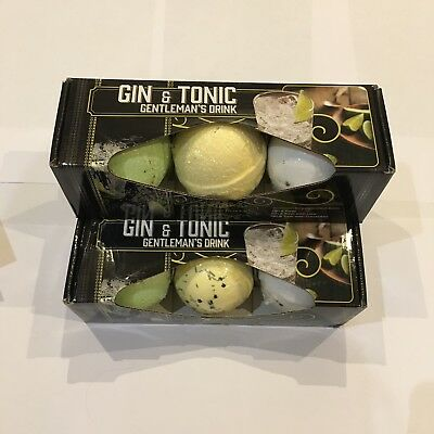 Luxurious 'GIN & TONIC' Cocktail Bath Bombs - Set of 3 -  Gift Boxed