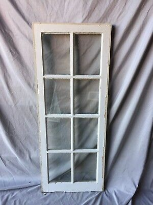 Antique 8 Lite Barn Window Sash Shabby 19X46 Vintage Chic  219-18C