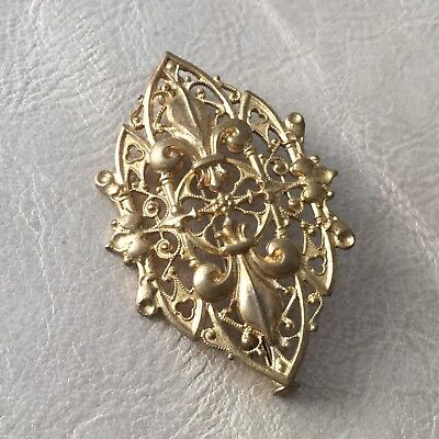 Broche Ancienne Fleurs De Lys Royalisme Antique French Nobilty Brooch