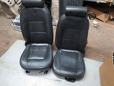 05-14 Ford Mustang GT V6 GT500 PVC Leather Racing Seats Red Stitch+Brackets X2