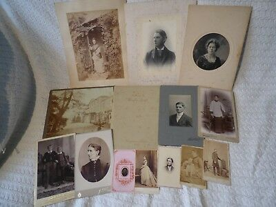 14 x Antique Victorian Edwardian CDV Cabinet Photographs