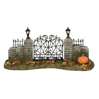 Dept 56 Halloween Village New 2018 LIT HALLOWEEN VILLAGE GATE 6000665 BNIB