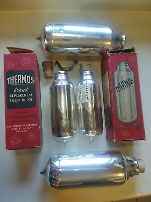 Thermos Replacement Filler No. 22F (Qty 2) and Quart Size (Qty 2)- FREE SHIPPING