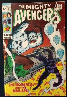 1969 Marvel Avengers #62 ~ First Appearance Man-Ape