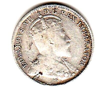1905 SILVER 5-CENT COIN from CANADA