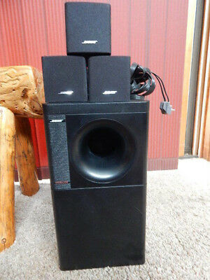 bose acoustimass 6 series ii speaker system - subwoofer, 3 cube speakers,  wires