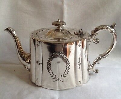 Antique James Dixon & Sons SilverPlated Tea Pot - Beautifully Decorated