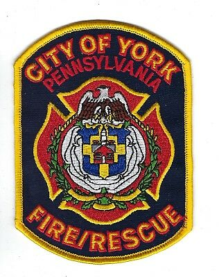 York (York County) PA Pennsylvania Fire Rescue Dept. patch - NEW!