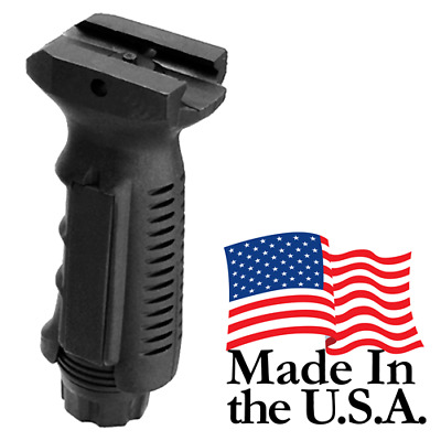 J&E Tactical Ergonomic Ambidextrous Vertical Rifle Foregrip Picatinny Mount BLK
