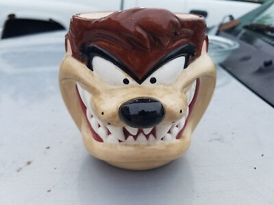 VTG 1995 Looney Tunes 3-D Taz Tasmanian Devil Ceramic Mug Cup Applause Tazmanian
