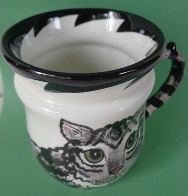 Cats by Nina Lyman Mug Gray Tabby 10 oz. Excellent ~ FREE SHIPPING