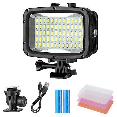Neewer 40m Underwater Dive 60 LED Dimmable LED Video Light for GoPro Hero 6 5 4