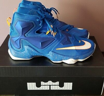 6119ae289e2 NIKE LEBRON XIII Men s size 12 Soar Blue Orange 807219 418 New with ...