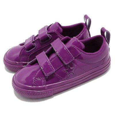 83127857549 Converse One Star 2V Purple Patent Leather Strap TD Toddler Infant Shoes  762523C