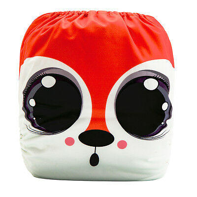 Modern Cloth Reusable Washable Baby Nappy Diaper & Insert, Big Cute Eyes