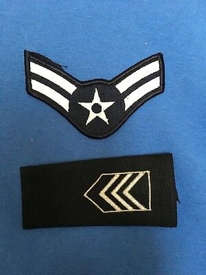 Vintage US AIR FORCE Chevron Patch and Epaulet United States Military Uniform