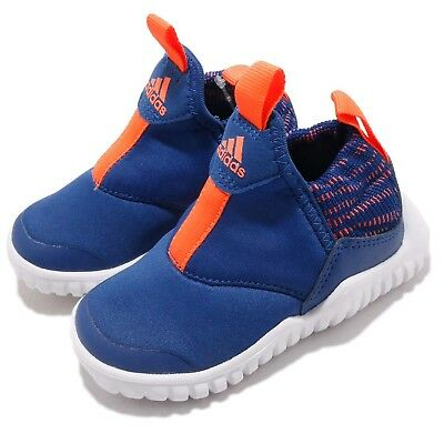 de5a8d97b45559 adidas RapidaZen I Blue White Orange TD Toddler Infant Baby Slip On Shoes  AH2540