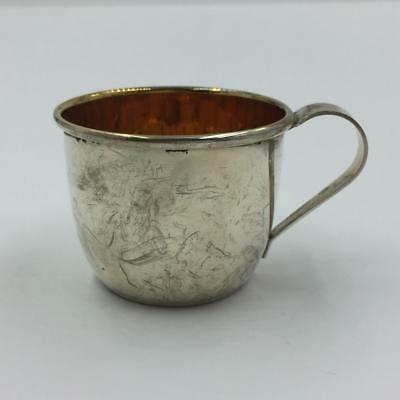 (1) Vintage Web Sterling Silver And Gold Lined 510 Baby Cup - No Monogram