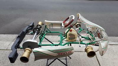 OTK Tony Kart Racer 401 Rolling Chassis GREAT Condition 50mm axle