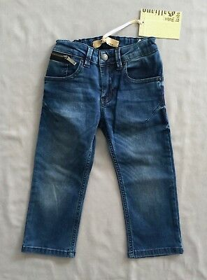 NWT JOHN GALLIANO Kids BOYS JG LOGO DENIM JEANS 2 SZ 24 MONTHS