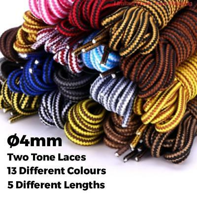 Bootlaces Shoelaces Sneakers Hiking Sports Casual Shoe Work Boot Laces Round