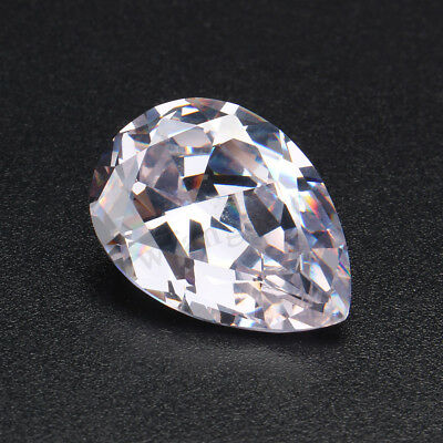 AU 51.58Ct White/Green Sapphire Pear Faceted Cut Shape Loose Gemstone Jewelry