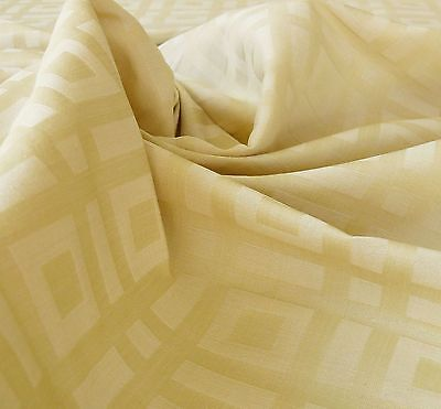 Lee Jofa Stewart Weave Ivory Square Cotton Linen Damask Cream White Bty Msrp$150