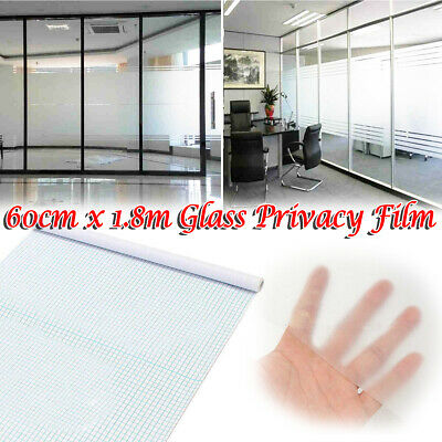 60x200cm Privacy Frosted Window Film Tint Glass Self Adhesive Tinted Home Office