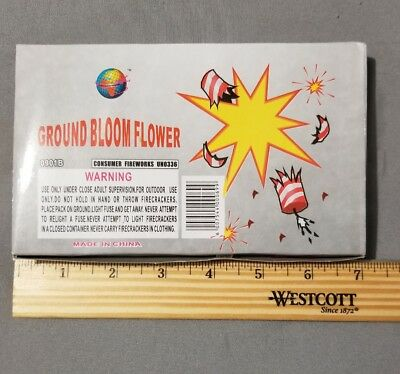 """""""Ground Bloom Flower"""" Empty Collectible Salute/ Firework Box! Labels Only"""