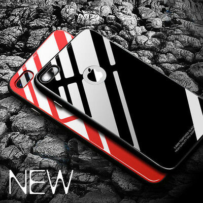 Fashion Mirror Glossy Tempered Glass Phone Case Cover For iPhone XS 8 7 6S Plus
