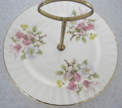 Pretty Vintage Royal Vale Cake Stand Floral Bone China Tableware