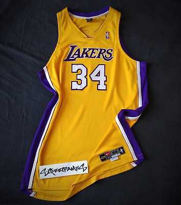 Authentic Jersey NBA Procut Shaquille ONEAL Los Angeles LAKERS Nike size 56