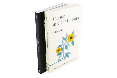 Rupi Kaur 2 Book Collection, Milk and Honey, The Sun and Her Flowers, Poetry