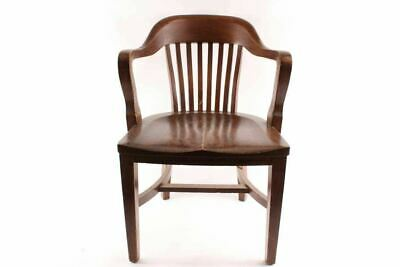 Vintage Court House Bank Lobby Oak Office Chair
