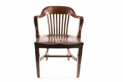 Antique Court House Bank Lobby Oak Chair
